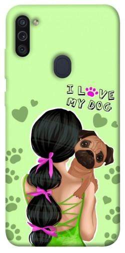 Чехол itsPrint Love my dog для Samsung Galaxy M11