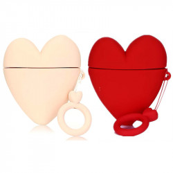 Силиконовый футляр Lucky Heart series для наушников AirPods2 + кольцо