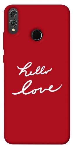 Чехол iPrint Hello love для Huawei Honor 8X