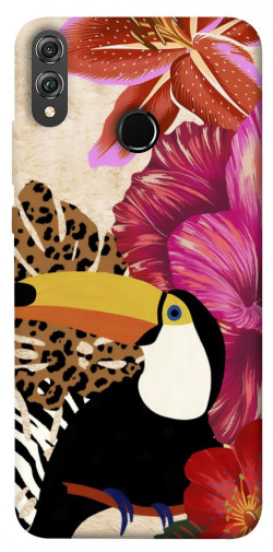 Чехол itsPrint Тукан среди цветов для Huawei Honor 8X