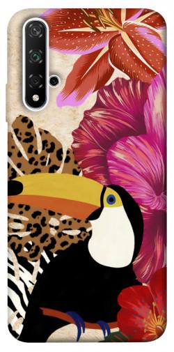 Чехол itsPrint Тукан среди цветов для Huawei Honor 20 / Nova 5T