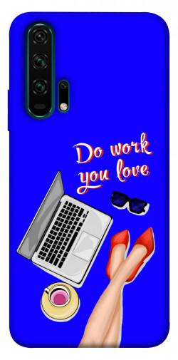 Чехол itsPrint Do work you love для Huawei Honor 20 Pro