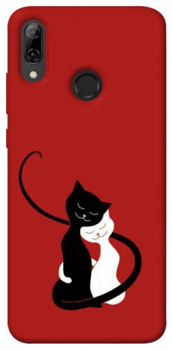 Чехол iPrint Влюбленные коты для Huawei P Smart (2019)