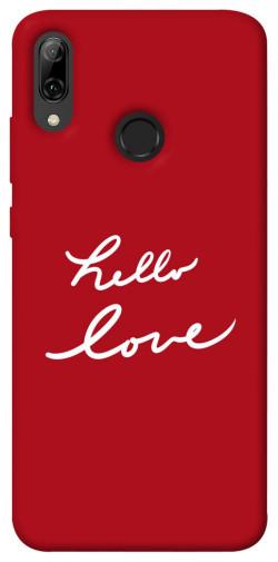 Чехол iPrint Hello love для Huawei P Smart (2019)