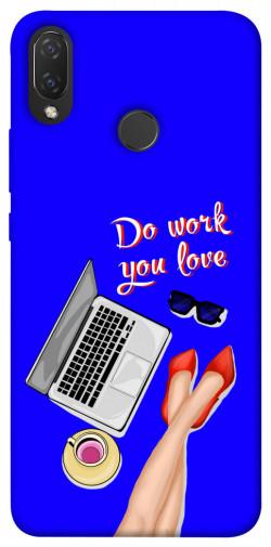 Чехол itsPrint Do work you love для Huawei P Smart+ 2019