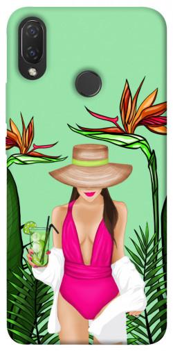 Чехол itsPrint Tropical girl для Huawei P Smart+ 2019