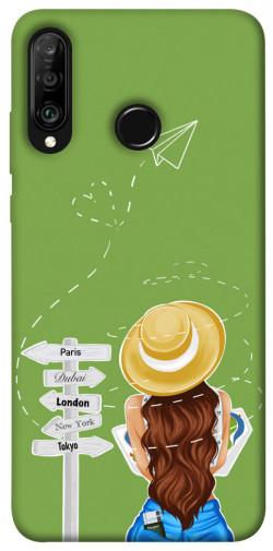 Чехол itsPrint Travel girl для Huawei P30 lite