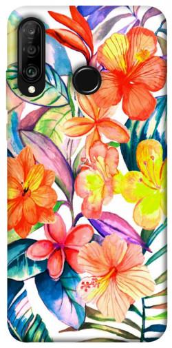 Чехол itsPrint Цветочный коктейль для Huawei P30 lite