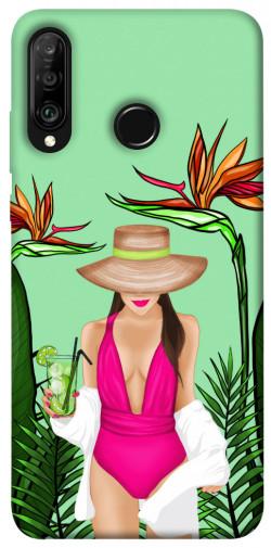 Чехол itsPrint Tropical girl для Huawei P30 lite