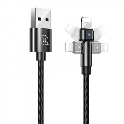 Дата кабель USAMS US-SJ476 U60 Rotatable USB to Lightning (1m)