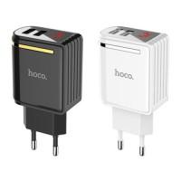 СЗУ Hoco C39A с дисплеем (2USB 2.4A)