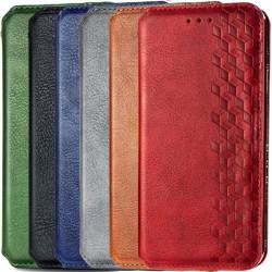 Кожаный чехол книжка GETMAN Cubic (PU) для Samsung Galaxy A02