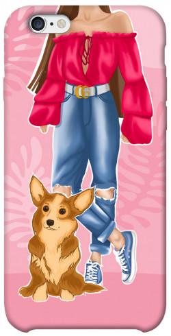 "Чехол itsPrint Girl and corgi для Apple iPhone 6/6s (4.7"")"
