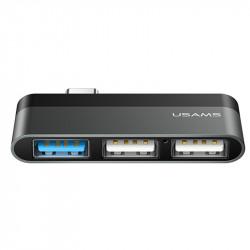 Переходник HUB Usams US-SJ461 Type-C to 3 USB port