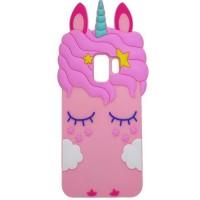 Силиконовая накладка 3D Little Unicorn для Samsung Galaxy S9+