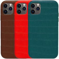 "Кожаный чехол Croco Leather для Apple iPhone 11 Pro Max (6.5"")"