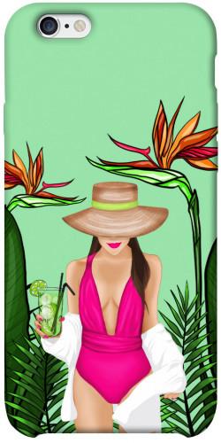 """Чехол itsPrint Tropical girl для Apple iPhone 6/6s plus (5.5"""")"""
