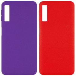 Чехол Silicone Cover Full without Logo (A) для Samsung A750 Galaxy A7 (2018)