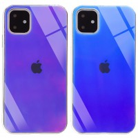 "TPU+Glass чехол Gradient Rainbow с лого для Apple iPhone 11 (6.1"")"