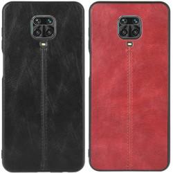 Кожаный чехол Line для Xiaomi Redmi Note 9s / Note 9 Pro / Note 9 Pro Max