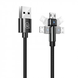 Дата кабель USAMS US-SJ478 U60 Rotatable USB to MicroUSB (1m)