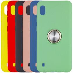 TPU чехол Summer ColorRing под магнитный держатель для Samsung Galaxy A10 (A105F)