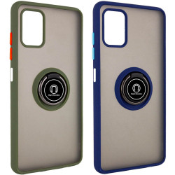 TPU+PC чехол Deen ColorEdgingRing for Magnet для Samsung Galaxy M51
