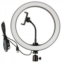 Кольцевая лампа M-126 26см с держателем, без подставки