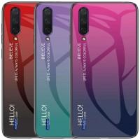 TPU+Glass чехол Gradient HELLO для Xiaomi Mi A3 (CC9e)
