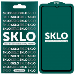 Защитное стекло SKLO 5D (full glue) для Samsung Galaxy A02s