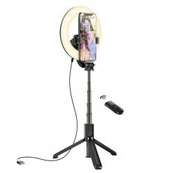 Кольцевая лампа с держателем Hoco LV03