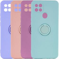 Чехол TPU Candy Ring Full Camera для Oppo A15s / A15