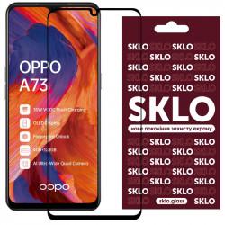 Защитное стекло SKLO 3D (full glue) для Oppo A73