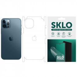 """Защитная гидрогелевая пленка SKLO (тыл+грани+лого) для Apple iPhone 13 (6.1"""")"""