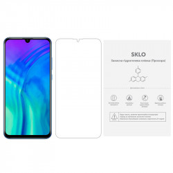 Защитная гидрогелевая пленка SKLO (экран) (тех.пак) для Huawei Y6 (2018)