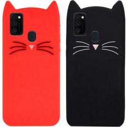 Силиконовая накладка 3D Cat для Samsung Galaxy M30s / M21