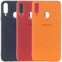 TPU чехол Textile Logo для Samsung Galaxy A20 / A30