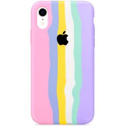 "Чехол Silicone case Full Rainbow для Apple iPhone XR (6.1"")"