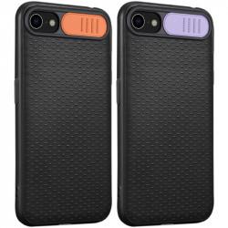 Чехол Camshield Black TPU со шторкой защищающей камеру для Apple iPhone 7 / 8 (4.7) / SE (2020)