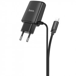 СЗУ HOCO C82A Real power dual port cable charger (for Lightning) (EU)