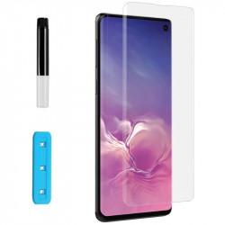 Защитное 3D стекло Nano Optics с УФ лампой для Samsung Galaxy S10