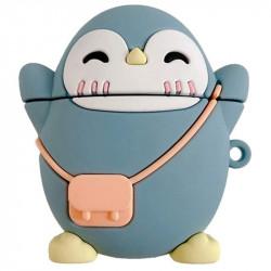 Силиконовый футляр Penguin для наушников AirPods 1/2 + карабин