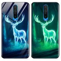 TPU+Glass чехол светящийся в темноте для Xiaomi Redmi K30 / Poco X2