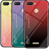 TPU+Glass чехол Gradient HELLO для Xiaomi Redmi 6