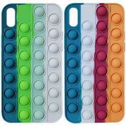 "Силиконовый 3D чехол-антистресс Pop it Bubble для Apple iPhone X / XS (5.8"")"