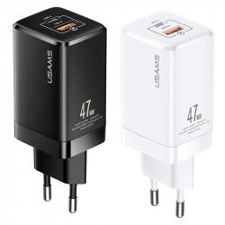 СЗУ Usams US-CC137 T41 47W GaN PD + QC Mini