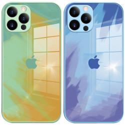 "TPU+Glass чехол Aquarelle Full Camera для Apple iPhone 12 Pro Max (6.7"")"