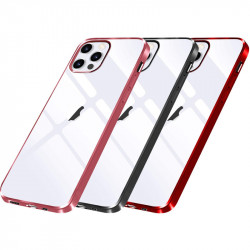 """Прозрачный силиконовый чехол с глянцевой окантовкой для Apple iPhone 12 Pro Max (6.7"""")"""