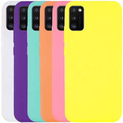 Чехол Silicone Cover Full without Logo (A) для Samsung Galaxy A41