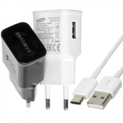 СЗУ Samsung Travel Adapter (2A/15W) + кабель USB to Type-C, в упак.